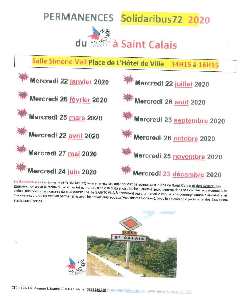 permanence secours populaire français 2020