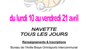 Animations sportives, vacances d'avril