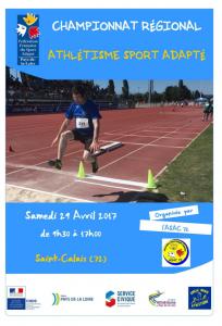 "Championnat régional des sports adaptés @ Piste d'athlétisme ""Armel Blanchard"""