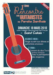 1ère Rencontre des Guitaristes du Perche Sarthois - journée de stage et Concert du duo Takto