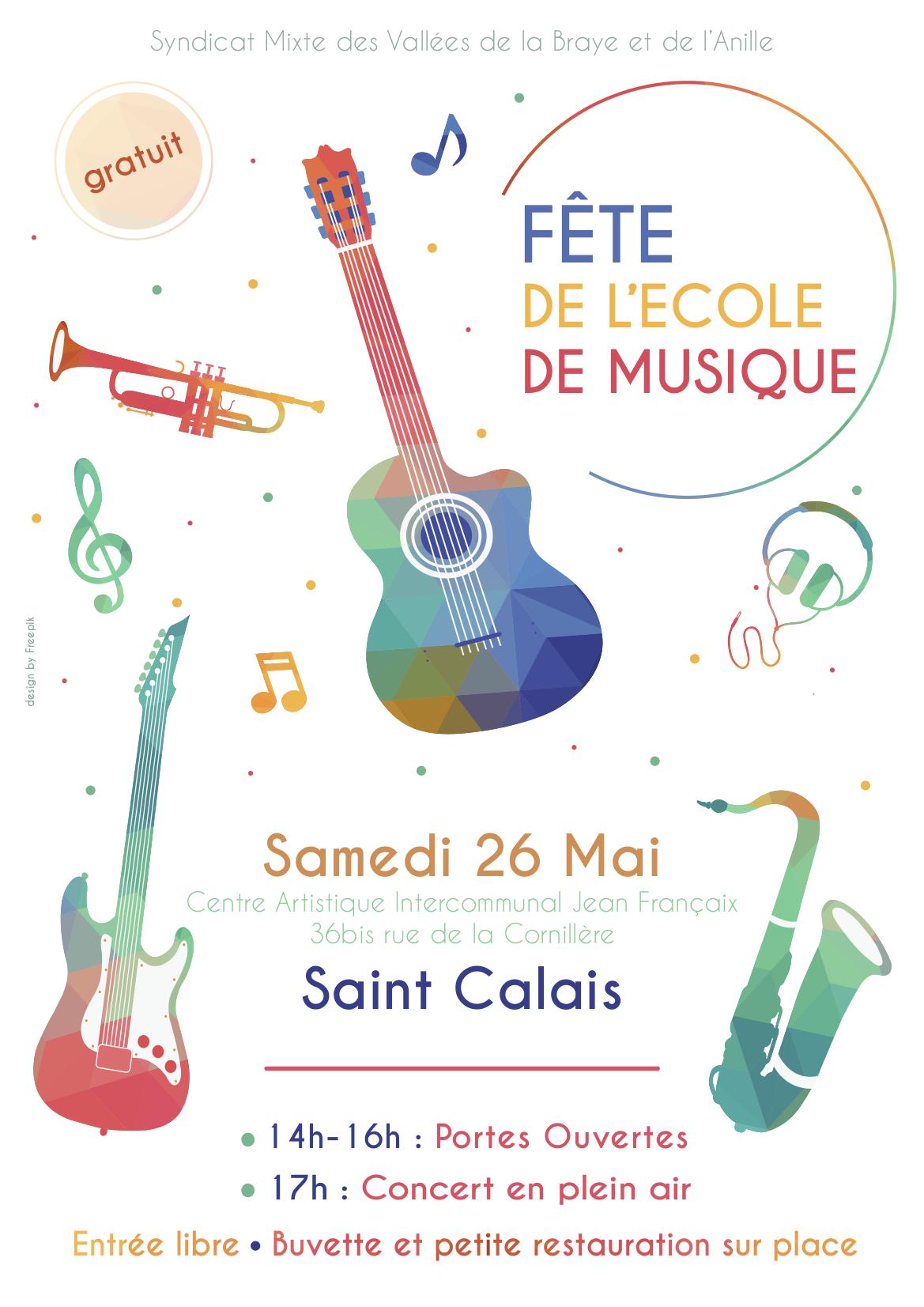 Fête de l'école de musique @ Centre Artisitique Jean-Françaix, 36bis rue de la Cornillere