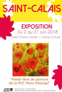 """Exposition """"Atelier libre de peintures et dessins"""" par la MJC Manu Dibango"""