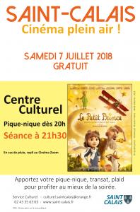 Cinéma de Plein Air @ Cour du Centre Culturel