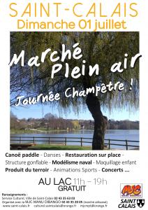 Marché de plein air @ Au lac de Saint-Calais