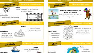 Mercredi-loisirs – Animations septembre, octobre 2018