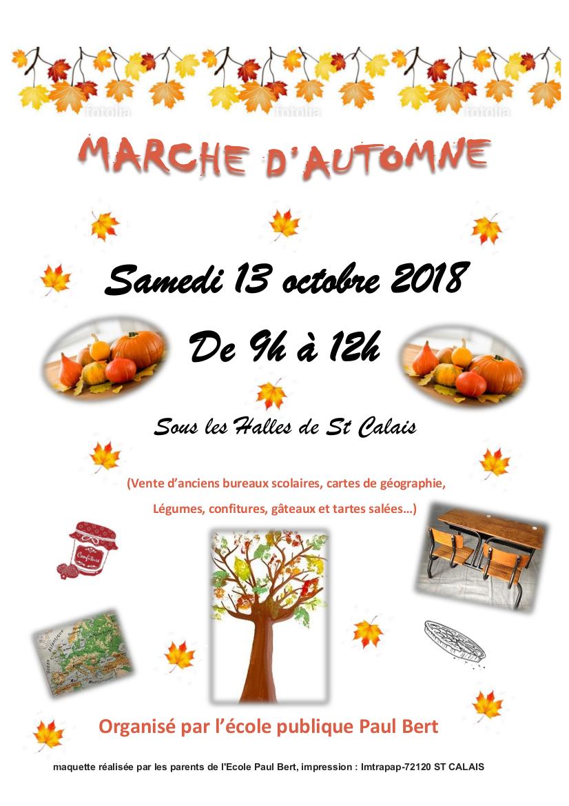affiche marché d'automne