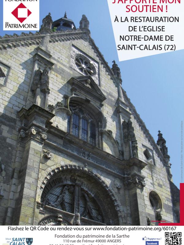 Affiche église St Calais
