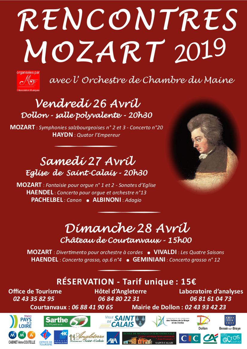 RENCONTRES MOZART 2019 Affiche et flyer
