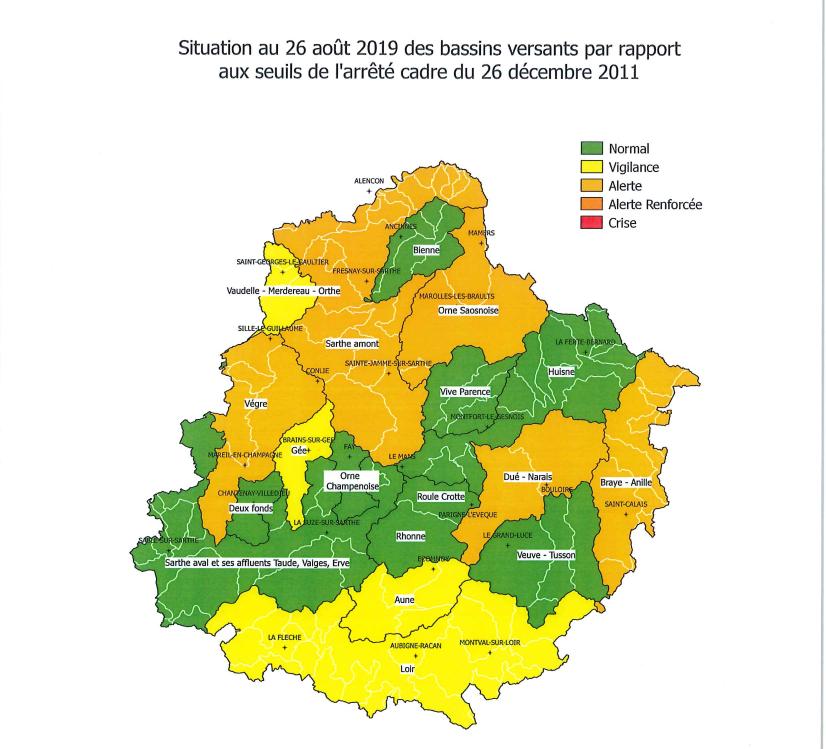 Arrêté sécheresse du 26 08 2019