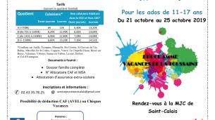 Programme des vacances d'automne : Service Jeunesse
