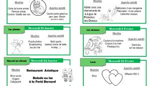 Mercredi-loisirs : Animations Janvier 2020