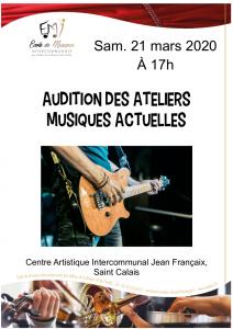 """Audition """"musiques actuelles"""""""