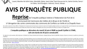 Projets en cours – Enquêtes publiques (déclassement d'une partie de voie, assainissement, planification des déchets…)