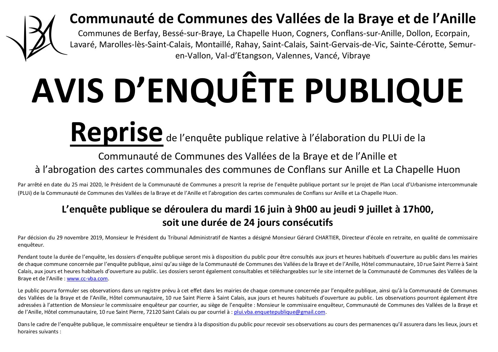 Affiche Enquête publique PLUi_VBA