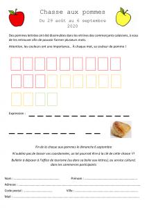 Chasse aux pommes (bulletin)