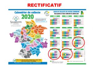 Smirgeomes Calendrier 2021 Collecte des déchets   Saint Calais