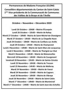 Permanences Octobre-Novembre-Décembre 2020 A3