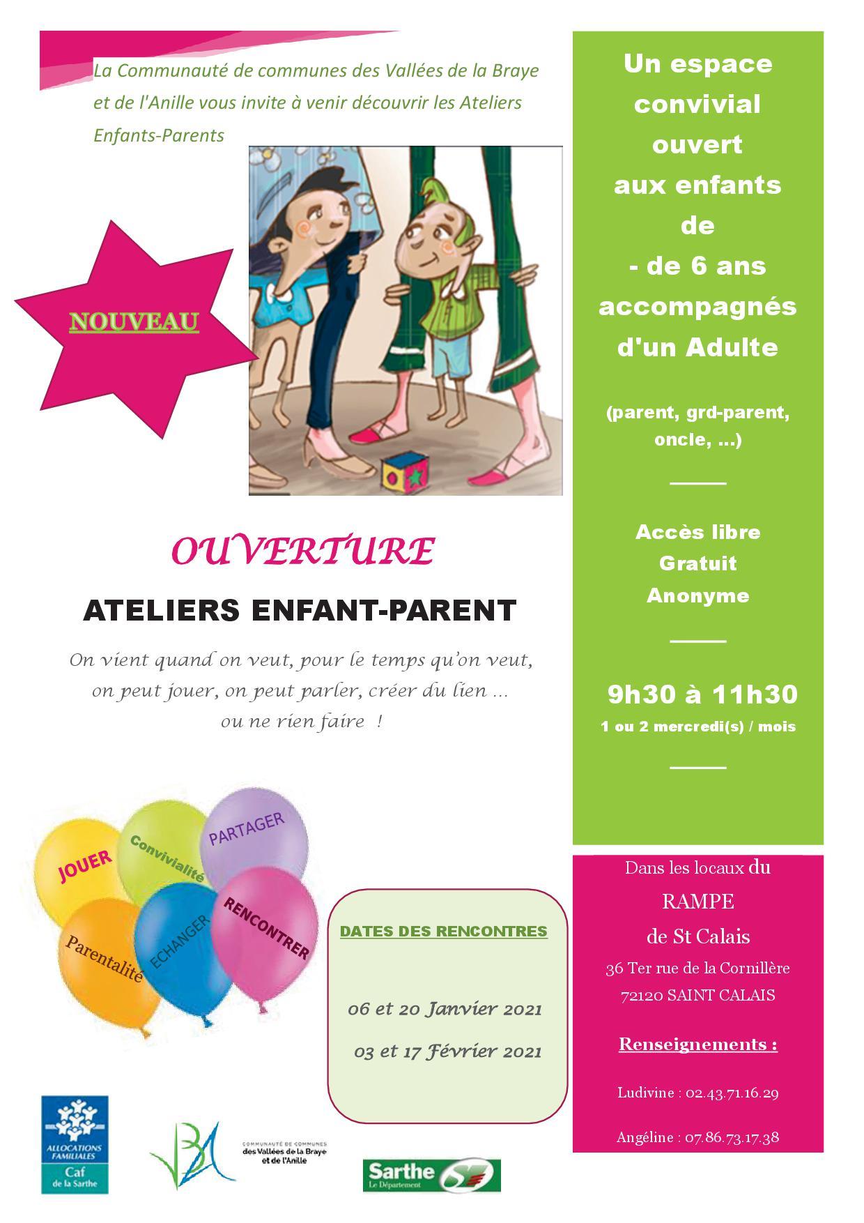 affiche ateliers enfant parent du 17.12.2020
