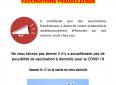 Soyez vigilants – Vaccinations frauduleuses