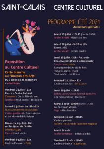 programme animations juillet aout centre culturel